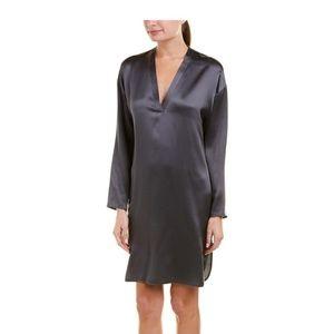 NWT Vince Silk Navy Blue Tunic Dress Small